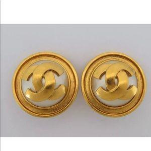 Gorgeous Authentic Chanel CC Logo Earrings